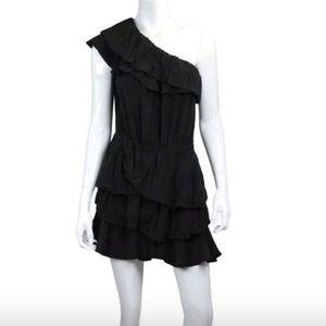 Isabel Marant Tiered Black Mini Dress 1
